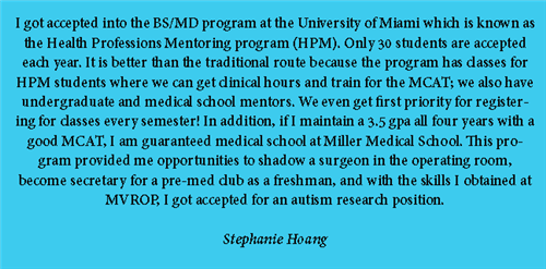 Biomed Alumni Success Story