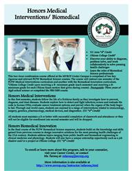 Honors Medical Intervention flyer